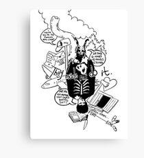 Donnie Darko (White background) Canvas Print