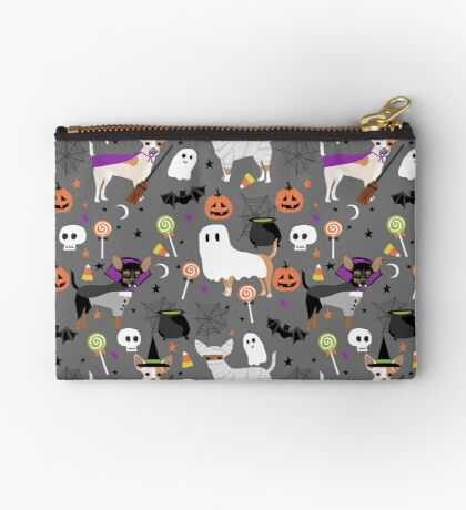 Chihuahua halloween dog breed pet portrait chihuahuas dog costumes Zipper Pouch