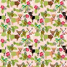 Chihuahuas dog breed hula hawaii tropical palm trees chihuahua  by PetFriendly