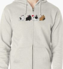 Frenchie Family Zipped Hoodie