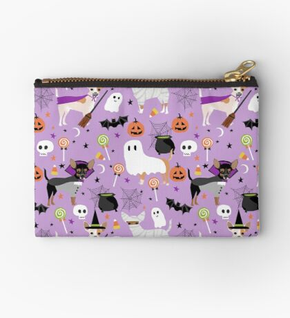 Chihuahua dog breed halloween pet portrait cute dogs gifts Zipper Pouch