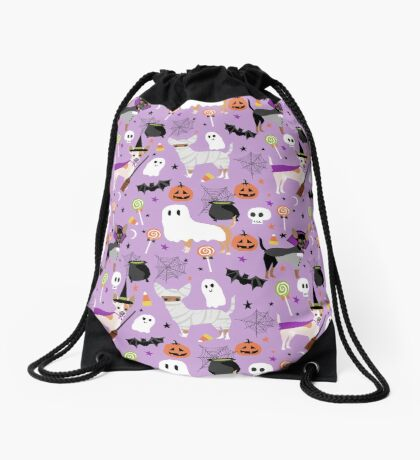 Chihuahua dog breed halloween pet portrait cute dogs gifts Drawstring Bag