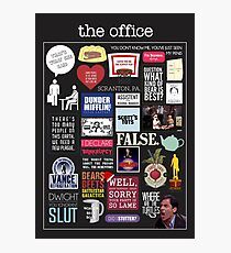 The Office | Elements | Quotes Photographic Print
