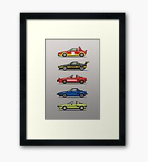 Stack of FlAT X1/9 Mid Engine Sport Cars Framed Print
