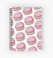 Watercolor Pink Macaroon Spiral Notebook