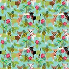 Chihuahua dog breed pet hawaii tiki tropical pattern chihuahuas by PetFriendly