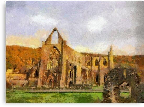 Tintern Abbey, Wales, UK by David Carton