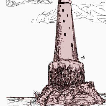 bishop rock, lighthouse  by gerabop
