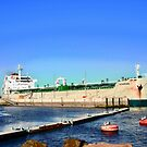 Freighter in Charlottetown Harbour, PEI, Canada by Shulie1