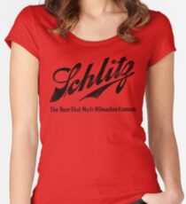 Schlitz - The Beer that Made Milwaukee Famous - weathered look Women's Fitted Scoop T-Shirt