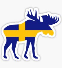 Moose elk Sweden Sticker