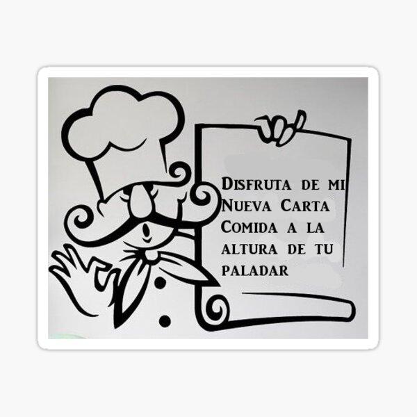 carta del cocinero Pegatina