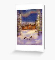 A winter night Greeting Card