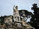 Fontana della dea di Roma, Piazza Del Popolo, Rome, Italy by David Carton
