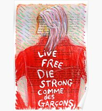 Live Free Die Strong Poster