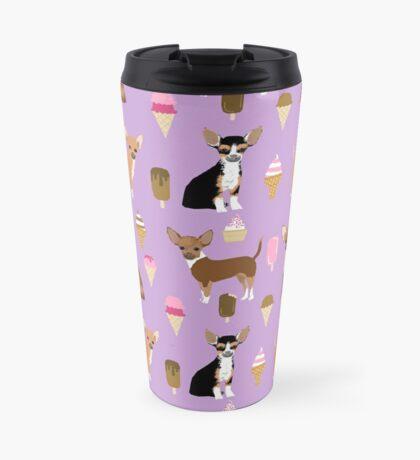 Chihuahua dog breed ice cream cone summer cute pet gifts chihuahuas Travel Mug