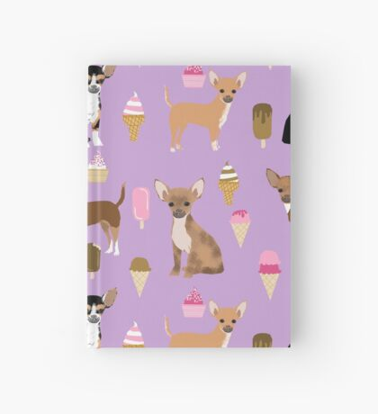 Chihuahua dog breed ice cream cone summer cute pet gifts chihuahuas Hardcover Journal