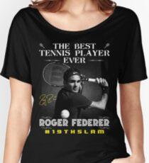 Camiseta ancha para mujer Roger Federer, el mejor tenista