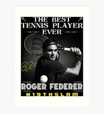 Roger Federer The Best Tennis Player Art Print