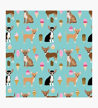 Chihuahua dog breed ice cream cone summer cute pet gifts chihuahuas Photographic Print