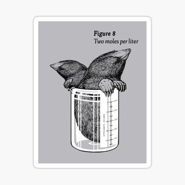 two moles per liter Sticker