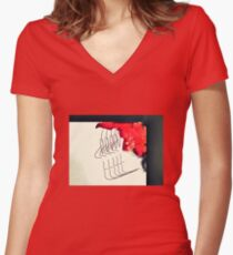The Beat Goes On Women's Fitted V-Neck T-Shirt