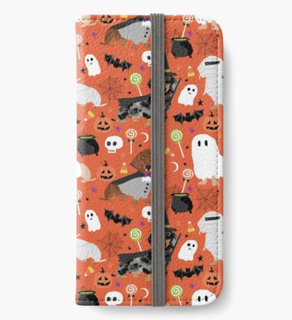 Dachshund halloween dog breed costume pet portrait doxie dachsie iPhone Wallet