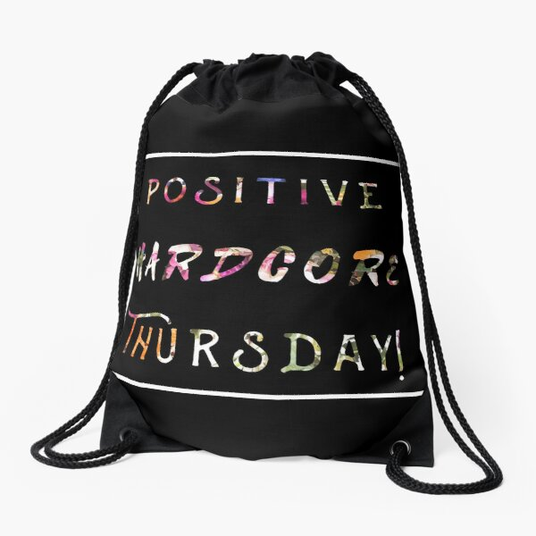 POSITIVE HARD CORE THURSDAY Drawstring Bag