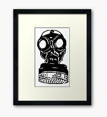WW2 Gas Mask TDM Framed Print