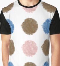 Yarn Ball Polka Dots Graphic T-Shirt