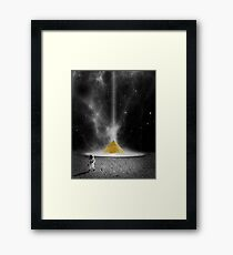 Space Pyramid (Sci Fi) Framed Print