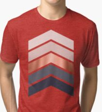 Chevrons in blush, navy and copper Tri-blend T-Shirt