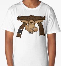 Sloth Jiu Jitsu Shirt BJJ Brown Belt Long T-Shirt