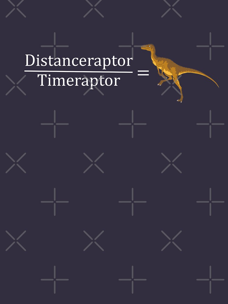 Velociraptor Math - Funny Dinosaur Velocity Formula by bethcentral