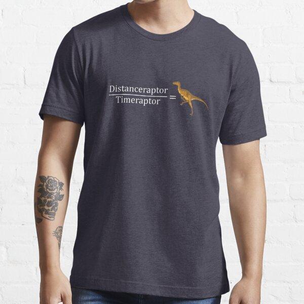 Velociraptor Math - Funny Dinosaur Velocity Formula Essential T-Shirt