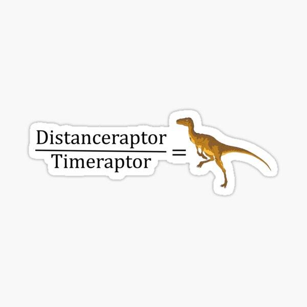 Velociraptor Math - Funny Dinosaur Velocity Formula Sticker