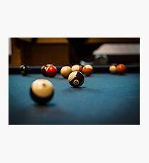 Pool Ball Table Photographic Print