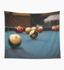 Pool Ball Table  Wall Tapestry
