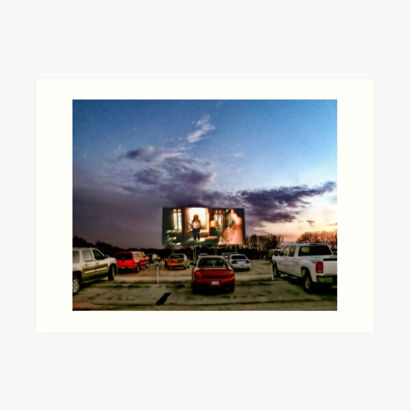 At The Drive-In Movies Art Print