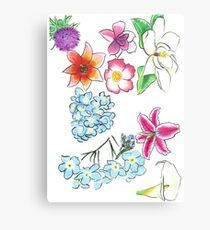 A Collection of Flowers Canvas Print