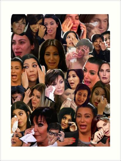 Kardashian 39 s crying collage art prints by rainyrainbow - Kim kardashian crying collage ...