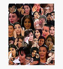 Kardashian's Crying Collage  Photographic Print