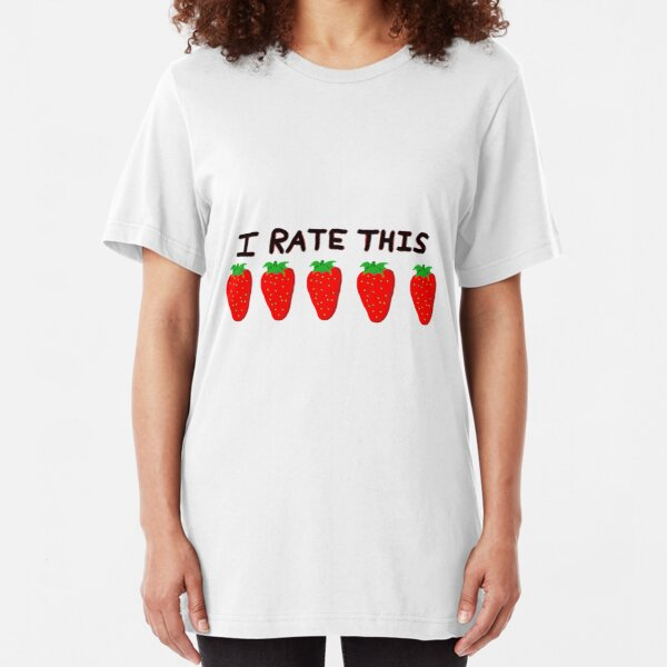 Five out of five strawberries Slim Fit T-Shirt