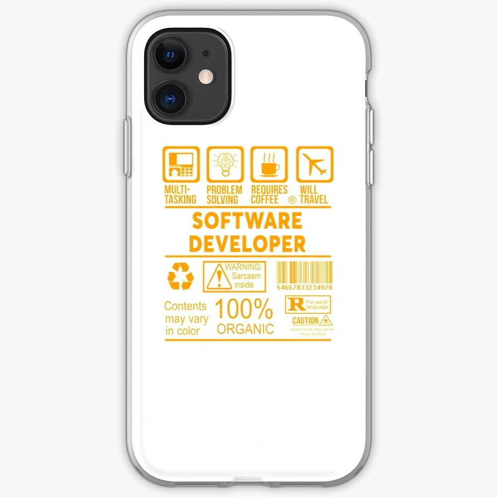Software Developer Nice Design 2017 Iphone Case Cover By Chrisstophers Redbubble