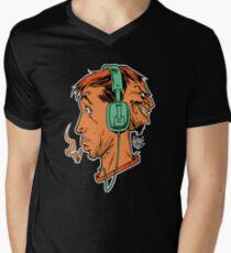 StereoHed Mens V-Neck T-Shirt