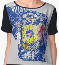 Wisconsin Women's Chiffon Top