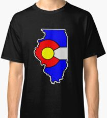 Colorado Flag Illinois State Classic T-Shirt