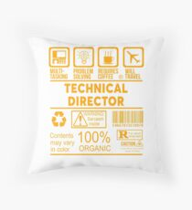 TECHNICAL DIRECTOR - NICE DESIGN 2017 Throw Pillow