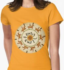 Horses Ride Circles Around Acrobats Women's Fitted T-Shirt