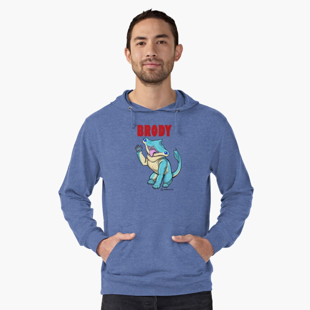 Brody the Hammer Wawg Lightweight Hoodie Front